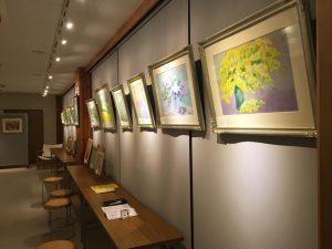 小山譲画伯のパステル、水彩画展